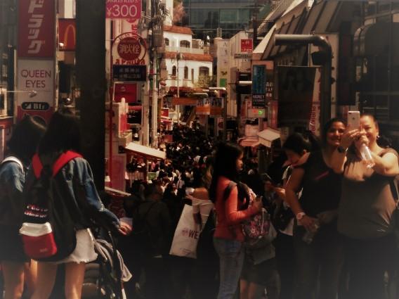 朝5時に広島を出て、原宿行って、夕方5時に広島に帰るという一日